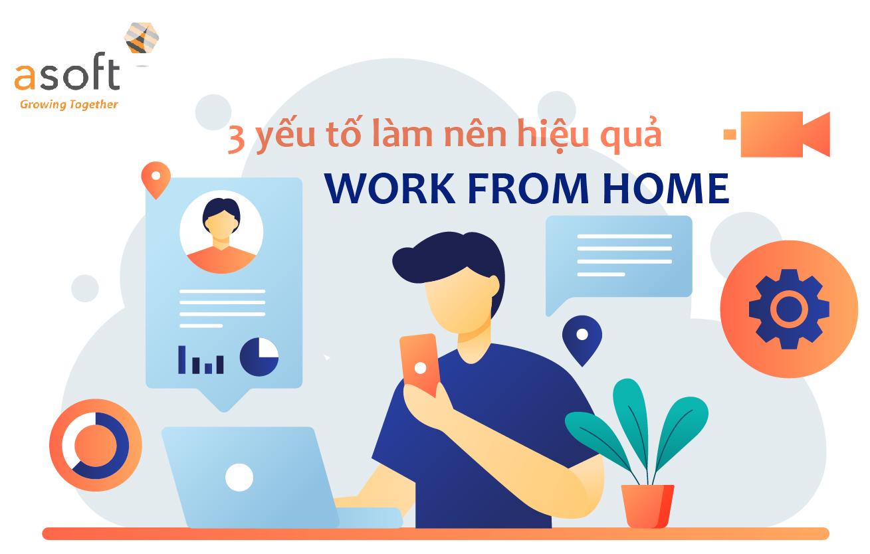 3 yếu tố làm nên hiệu quả khi làm việc từ xa – Work From Home