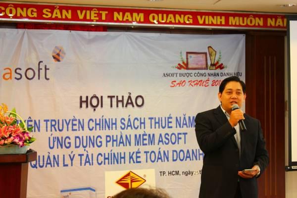 Ông Huỳnh Thanh Minh - Giám đốc công ty nhấn mạnh phương châm đồng hành cùng doanh nghiệp